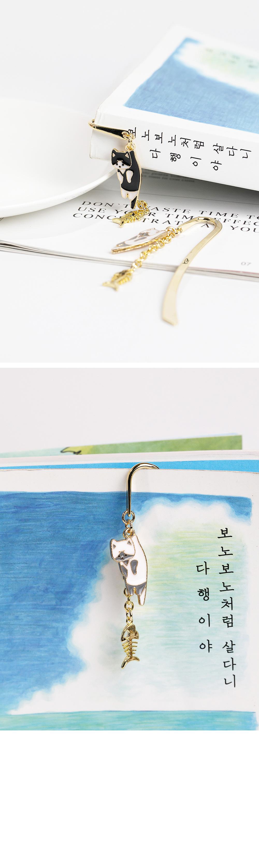[핸드메이드] 캣 본본 책갈피 - 폭스타일, 8,000원, 북마크/책갈피, 심플