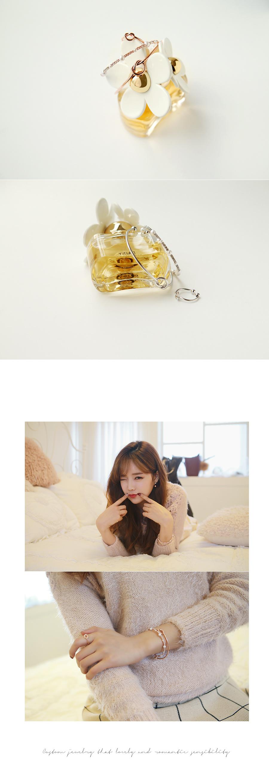 [ 4xtyle ] (3EA 1SET) LOVELY HEAR BRACELET & RING