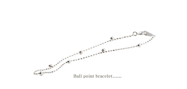 [ 4xtyle ] 球点的银手镯,一种颜色