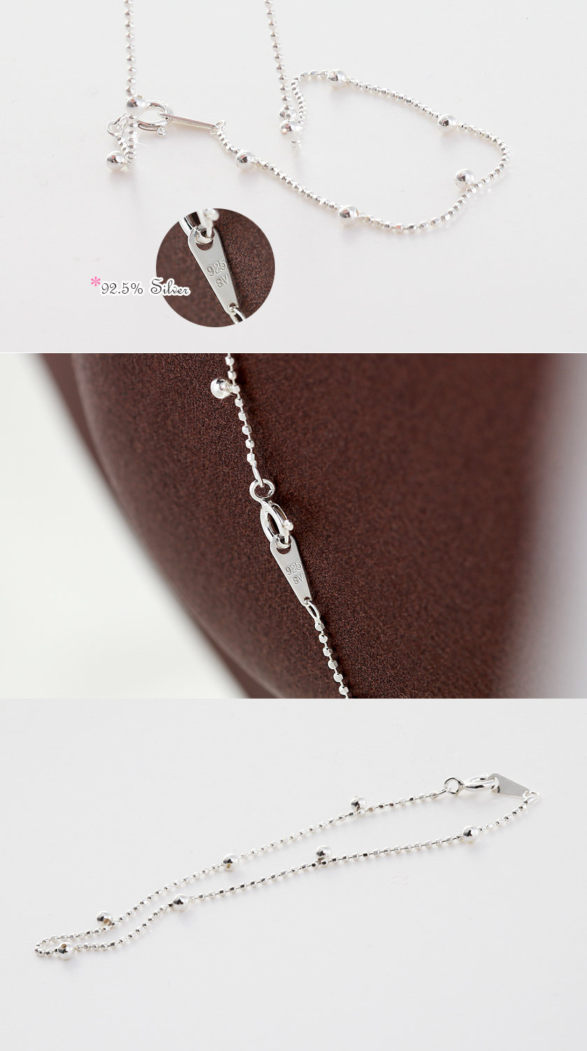 [ 4xtyle ] Ball Point Silver Bracelet, One Color
