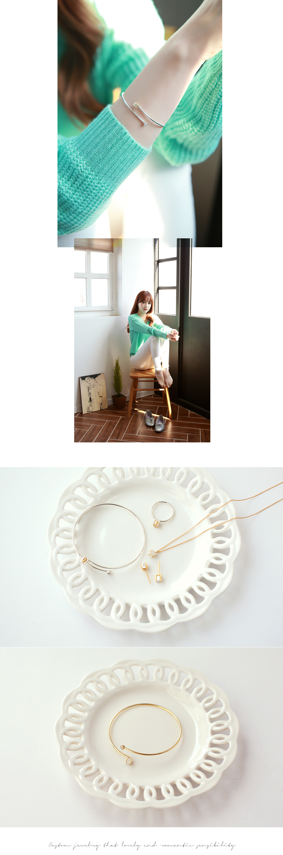 [ 4xtyle ] Vonin Silver Bracelet, 2 Colors