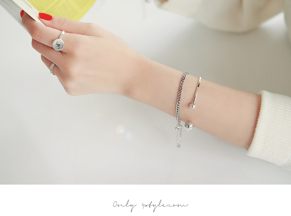 [ 4xtyle ] [SILVER] DAILY IT BRACELET (ANTIQUE)