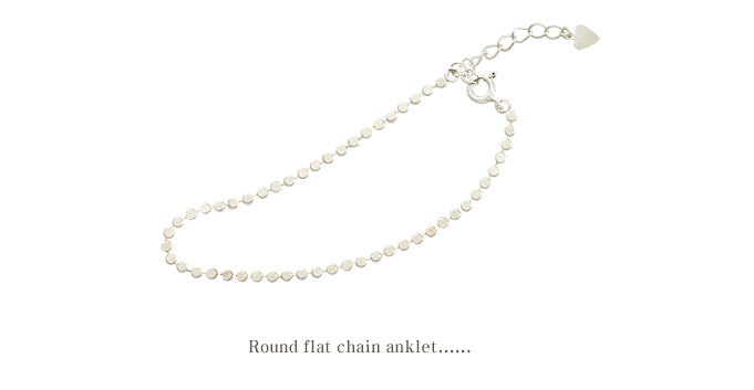[ 4xtyle ] Round Flat Chain Silver Anklet, One Color