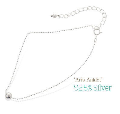 [ 4xtyle ] Aris Silver Anklet, One Color