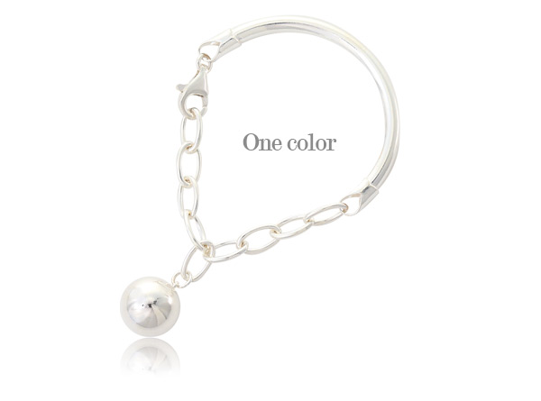 [ 4xtyle ] Bigest Ball Silver Bracelet, One Color
