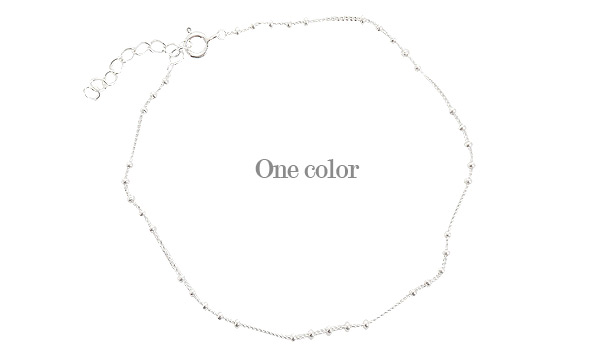 [ 4xtyle ] Daisy Ball Silver Anklet, One Color