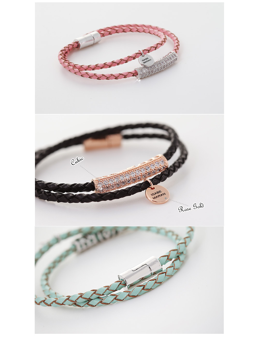 [ 4xtyle ] TWO LINE REALLY LEATHER BRACELET