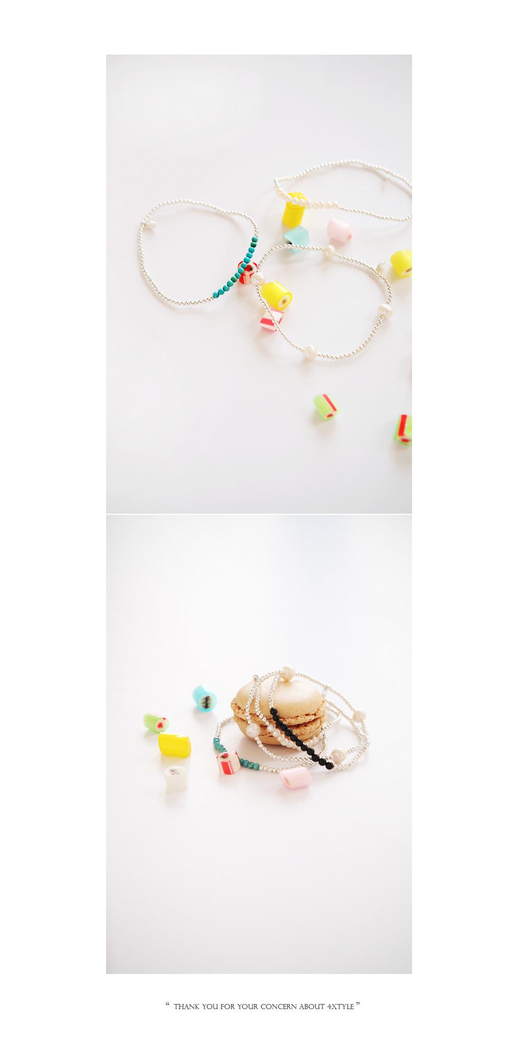 [ 4xtyle ] [SILVER] MINI MARY BALL BRACELET (2MM)