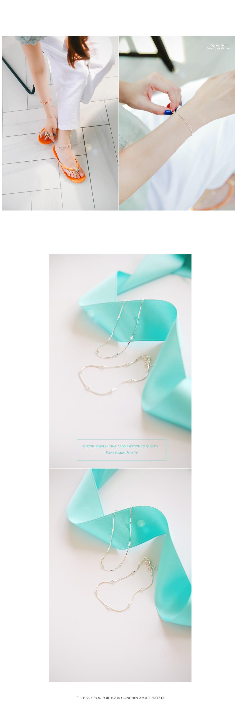 [ 4xtyle ] Milky Snake Silver Bracelet, One Color