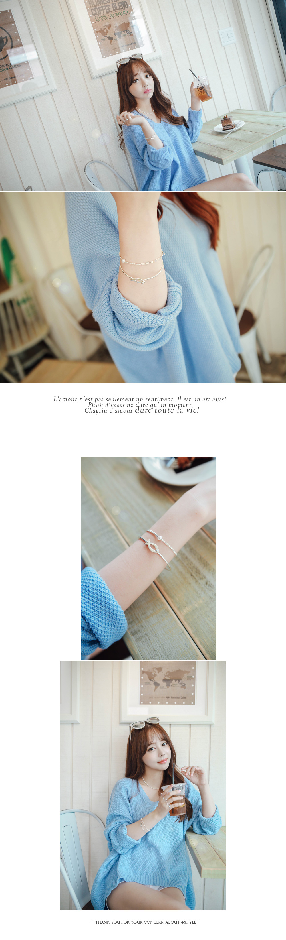 [ 4xtyle ] Nimo Silver Bracelet, One color