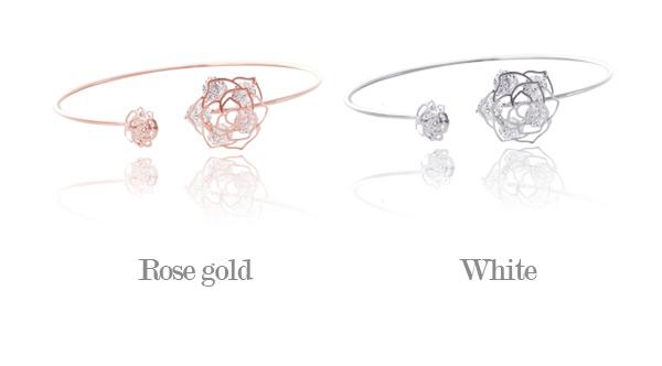 [ 4xtyle ] 水晶玫瑰镯手镯