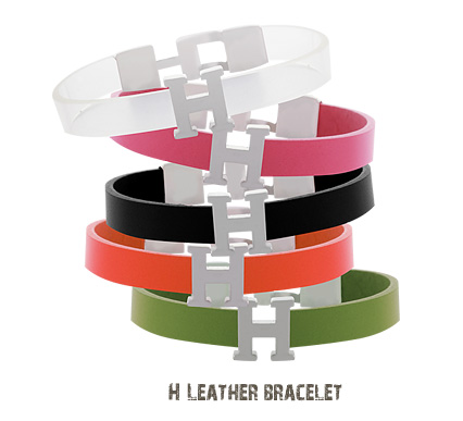 [ 4xtyle ] H LEATHER BRACELET