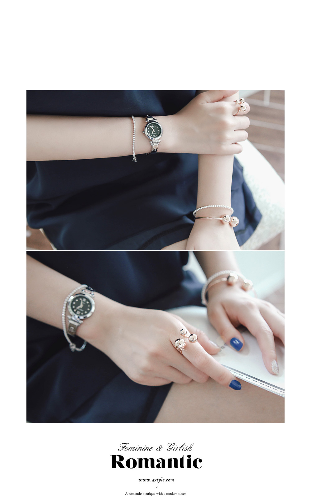 [ 4xtyle ] Talk You Silver Bangle, One Color