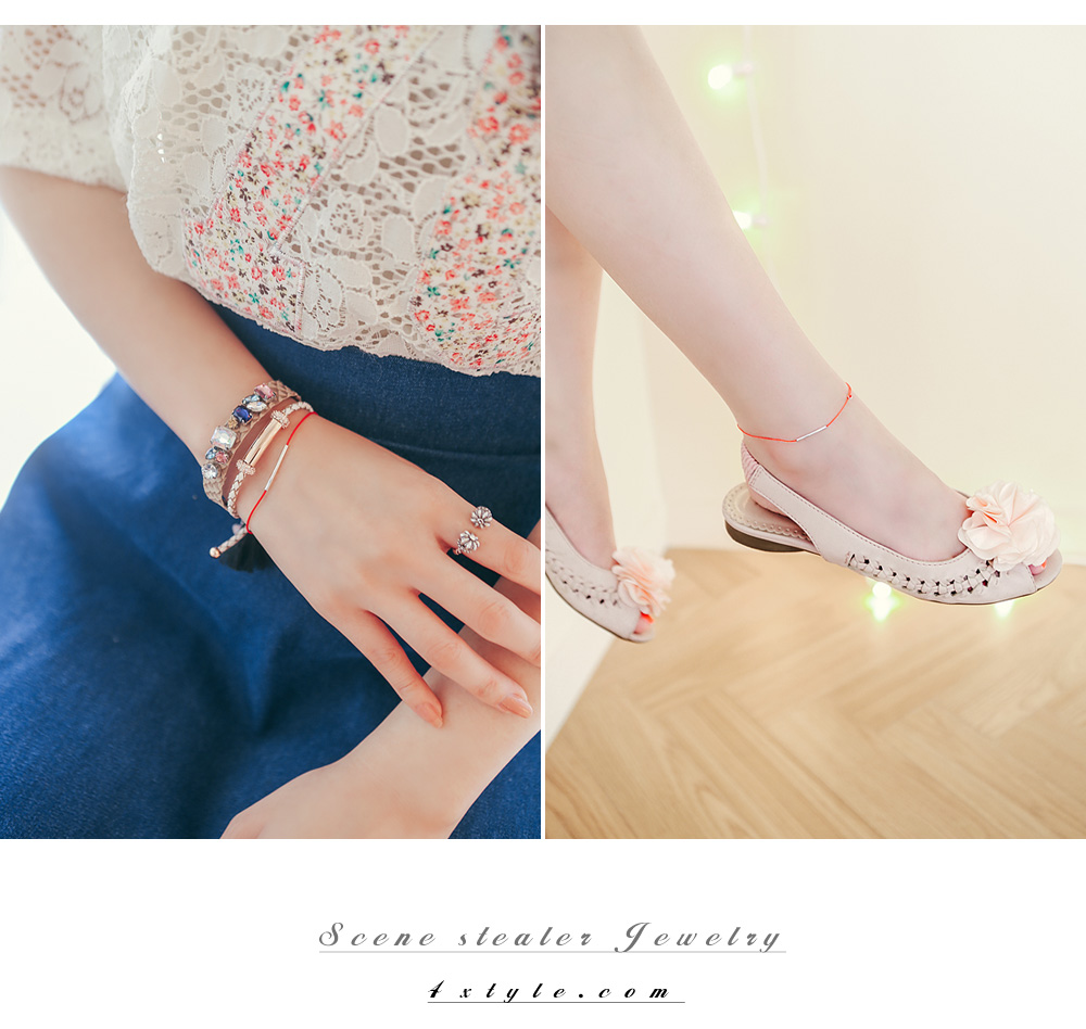 [ 4xtyle ] Everyday Simple anklet, 7 Colors