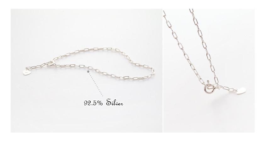 [ 4xtyle ] 方形球链银手镯、一种颜色