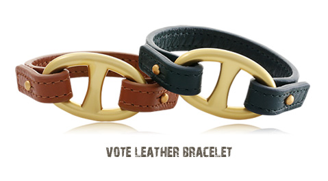 [ 4xtyle ] VOTE LEATHER BRACELET