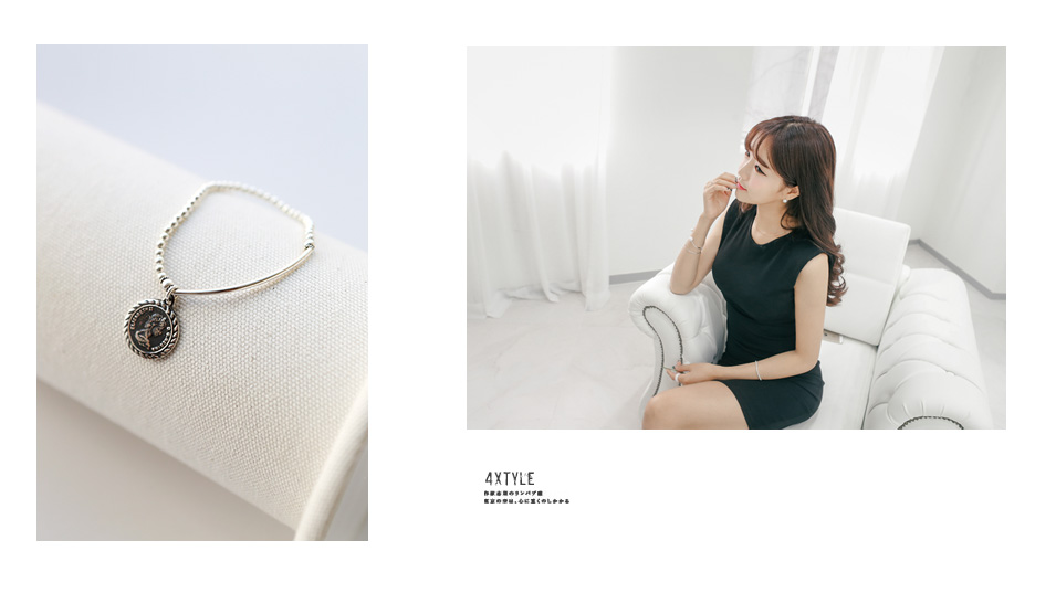 [ 4xtyle ] Eli Coin Silver Bangle, One Color