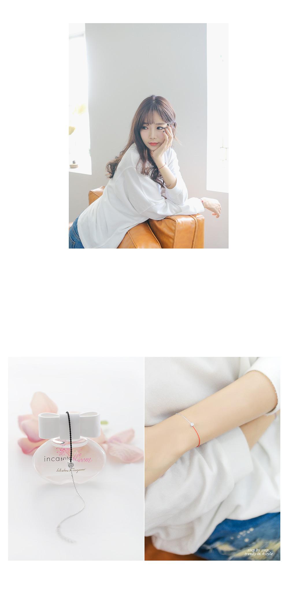 [ 4xtyle ] 熔化的丝银手镯3色