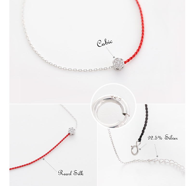 [ 4xtyle ] Melting Silk Silver Bracelet, 3 Colors