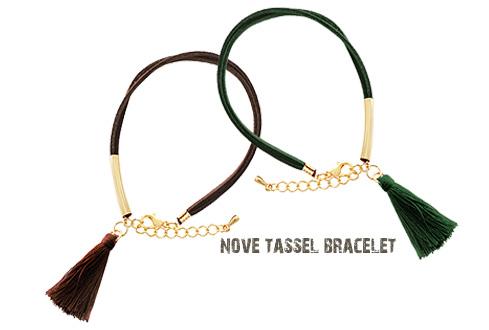 [ 4xtyle ] NOB TASSEL BRACELET