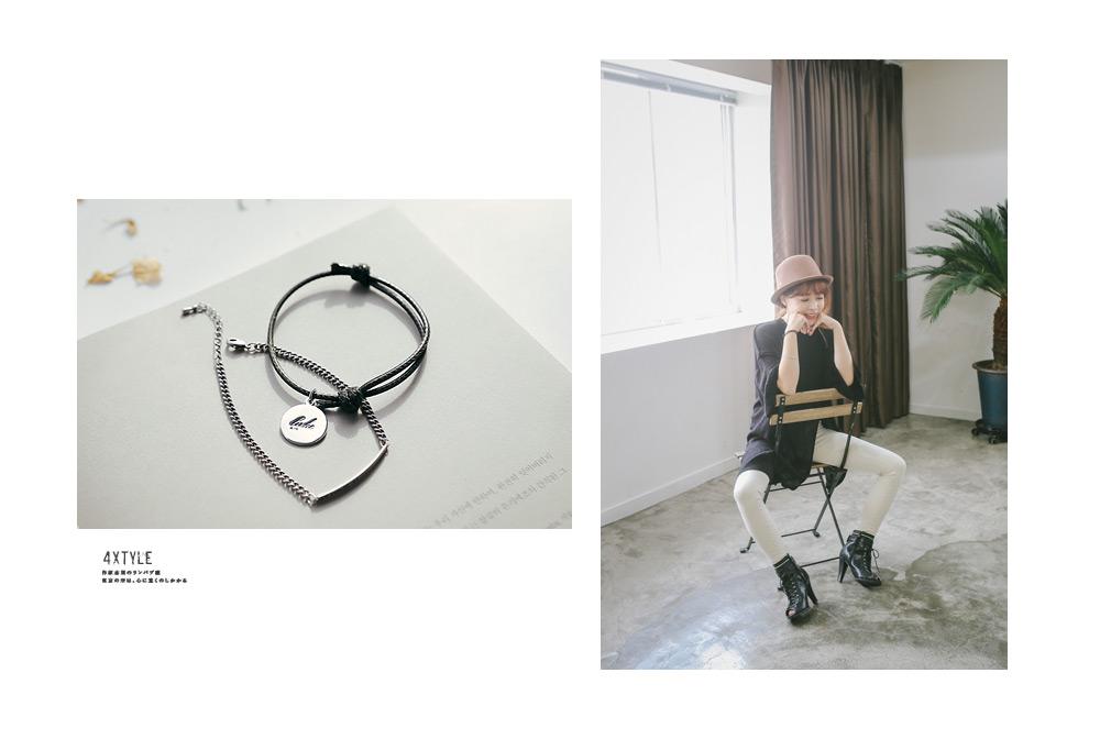[ 4xtyle ] (2EA 1SET) MUTE BRACELET