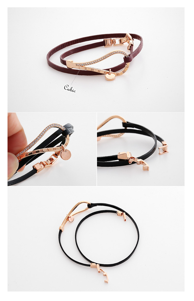 [ 4xtyle ] VIOLETTA LEATHER BRACELET