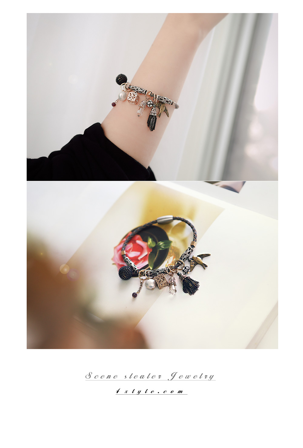 [ 4xtyle ] [HANDMADE] HOLIDAY LEATHER BRACELET