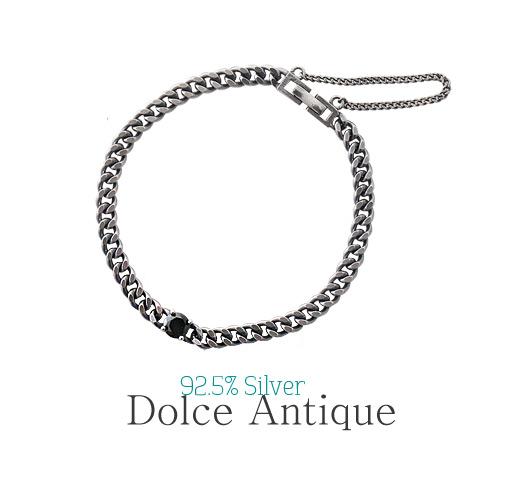 [ 4xtyle ] [银] DOLCE 古董链手镯