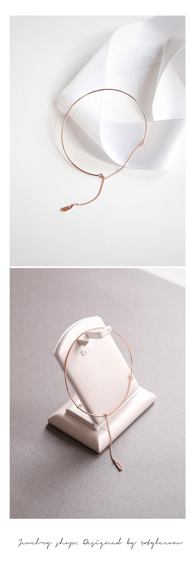 [ 4xtyle ] [银]叶霍利克手镯(白)
