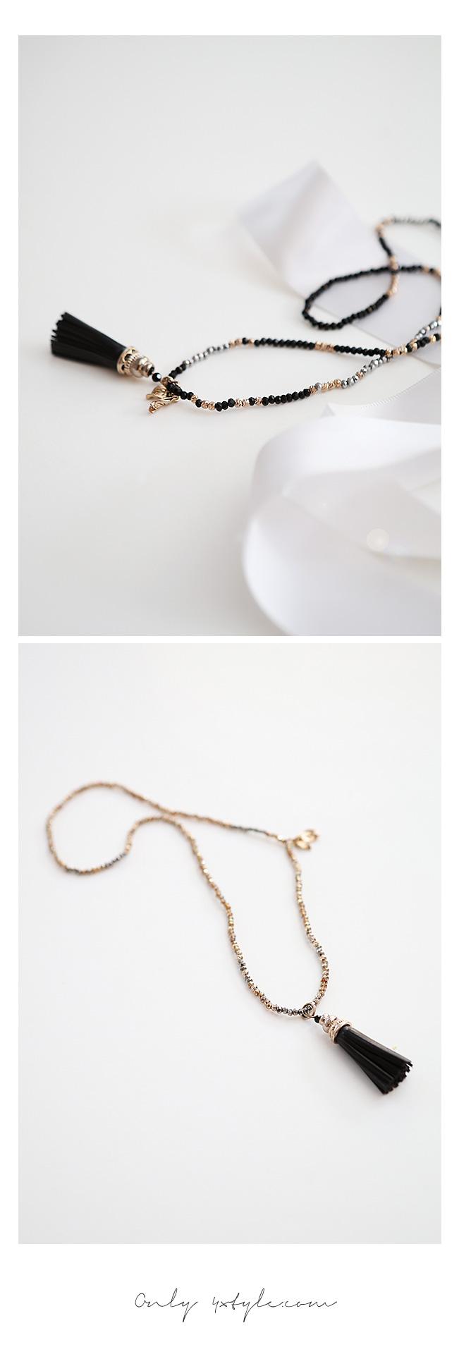 [ 4xtyle ] Women Slender Tassel Braclet, 2 Colors