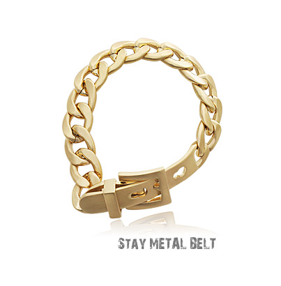[ 4xtyle ] STAY METAL BELT BRACELET
