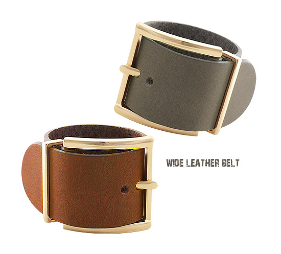 [ 4xtyle ] WIDE LEATHER BELT BRACELET