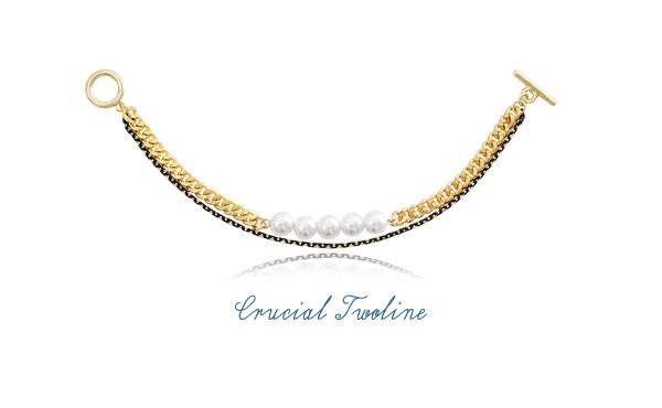 [ 4xtyle ] CRUCIAL TWOLINE BRACELET
