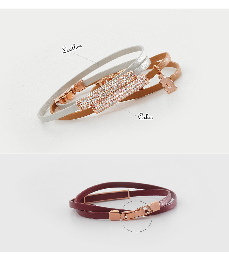 [ 4xtyle ] LOTUS LEATHER BRACELET