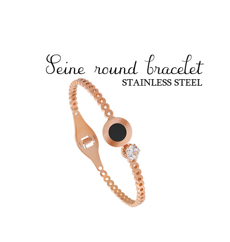 [ 4xtyle ] [STAINLESS STEEL]SENE ROUND BRACELET