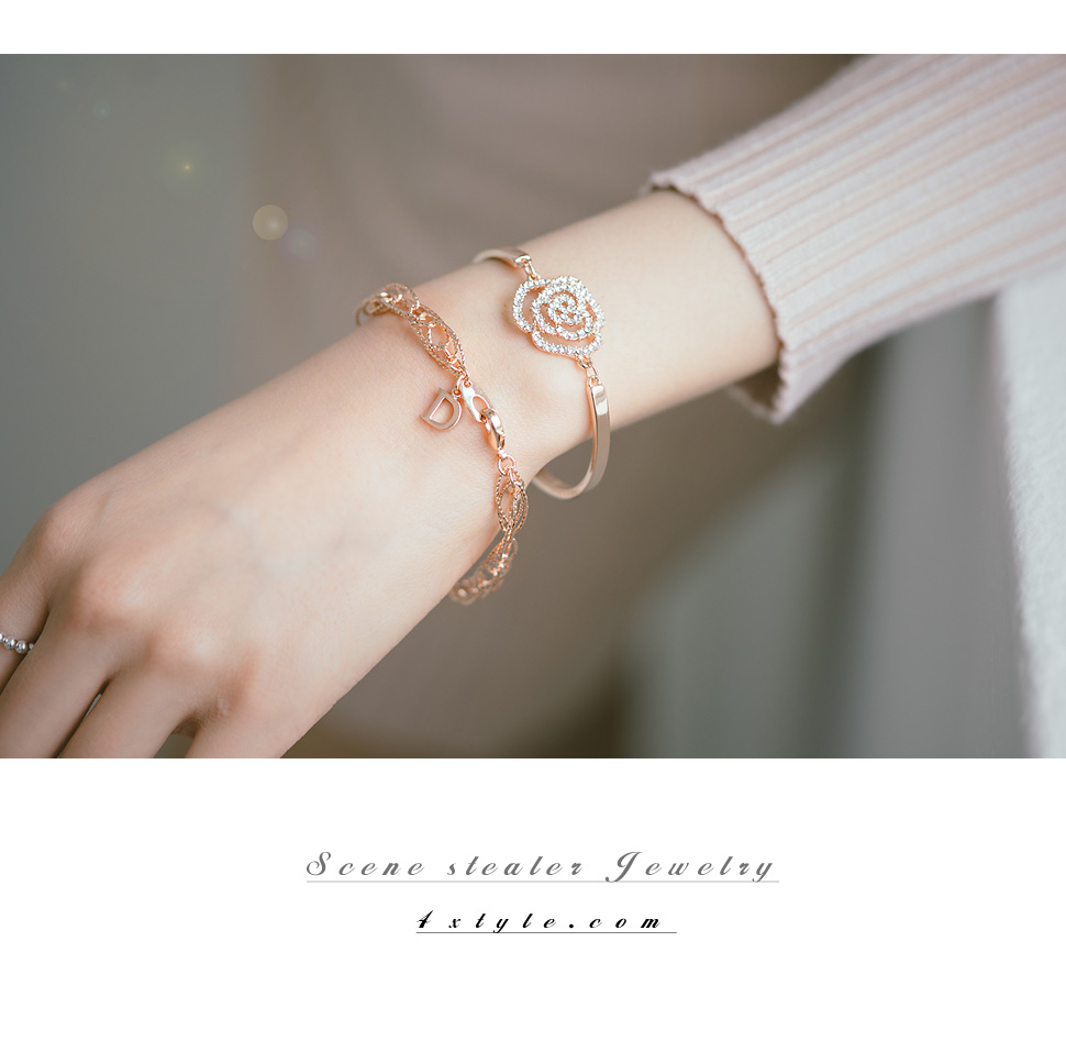 [ 4xtyle ] WAVE CUTTING CHAIN BRACELET