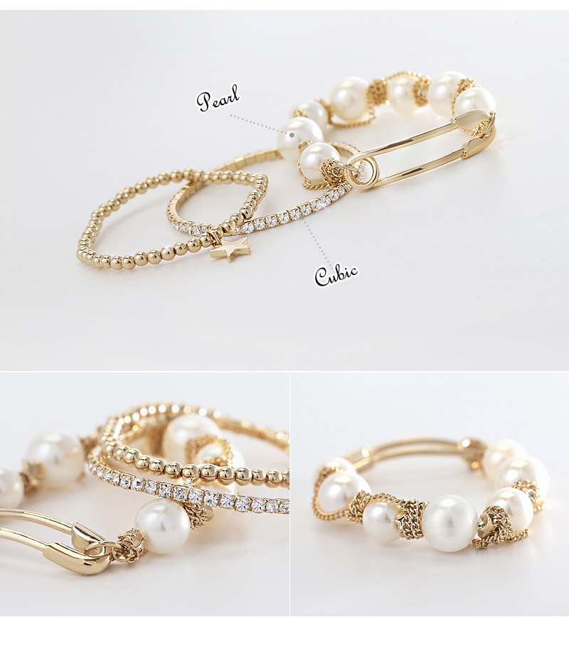 [ 4xtyle ] (3EA 1SET) EMOTIONAL CHAIN BRACELET