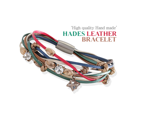 [ 4xtyle ] [HANDMADE] HADES LEATHER BRACELET