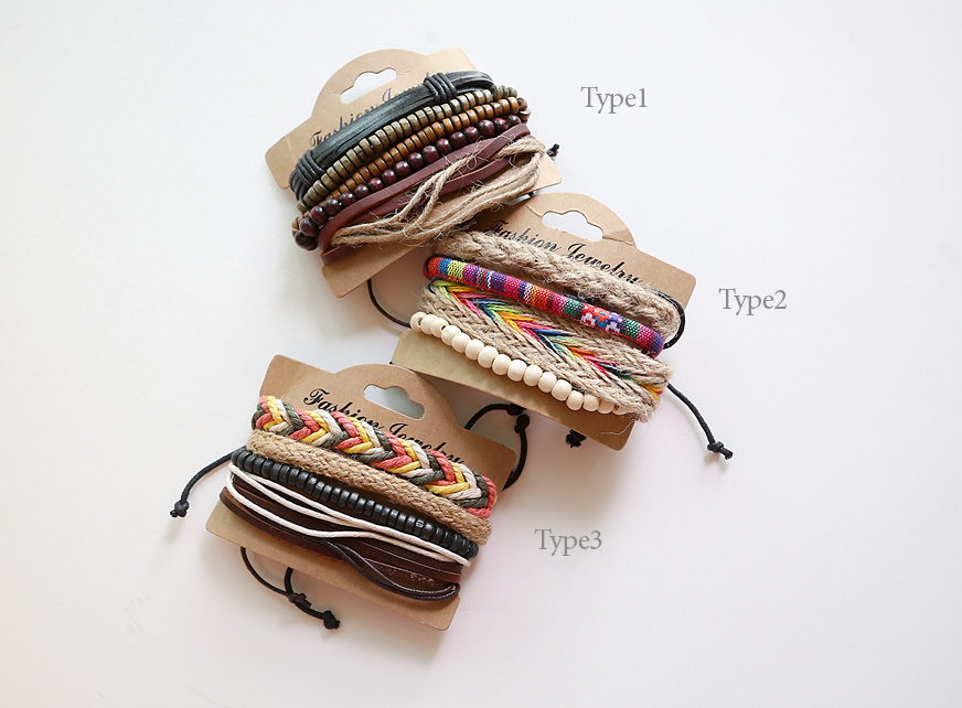 [ 4xtyle ] RAINBOW MIX BRACELET SET