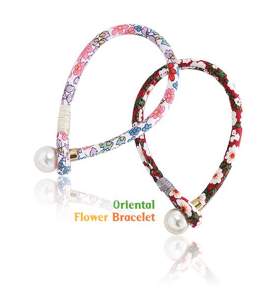 [ 4xtyle ] ORIENTAL FLOWER BRACELET