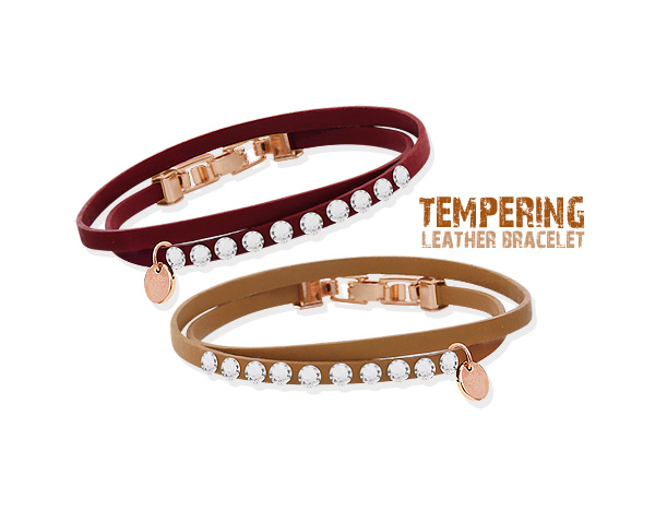 [ 4xtyle ] TEMPERING LEATHER BRACELET