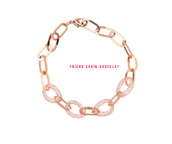 [ 4xtyle ] FRIEND CHAIN BRACELET