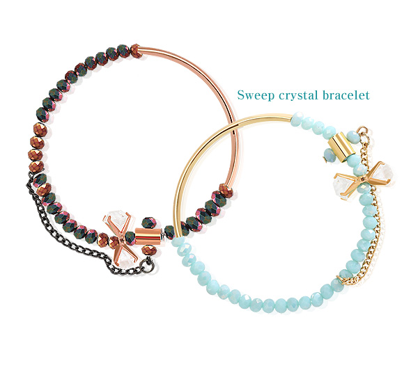 [ 4xtyle ] SWEEP CRYSTAL BRACELET