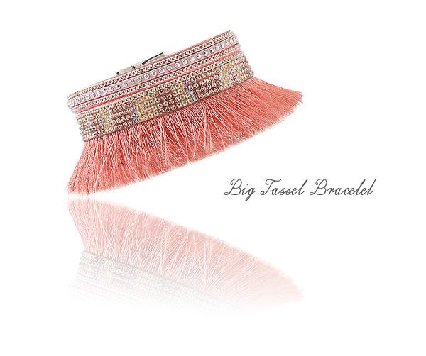 [ 4xtyle ] big tassel bracelet