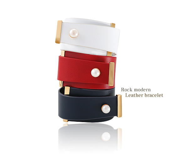 [ 4xtyle ] rock modern leather bracelet