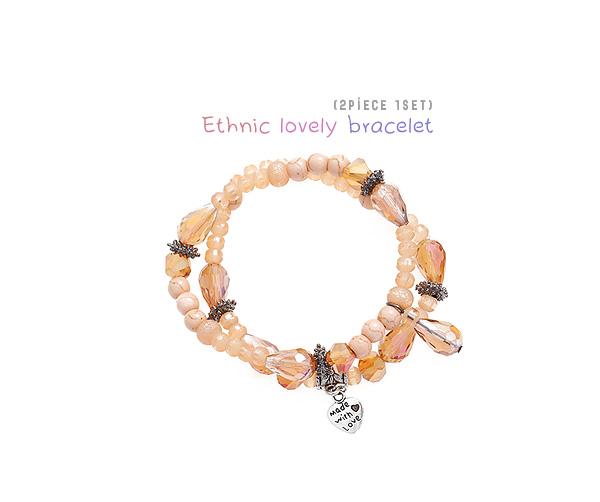[ 4xtyle ] [2pcs 1set] Ethnic Lovely Bracelet