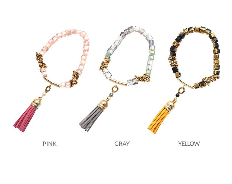 [ 4xtyle ] [4xtyle] Glass Tassel Bracelet