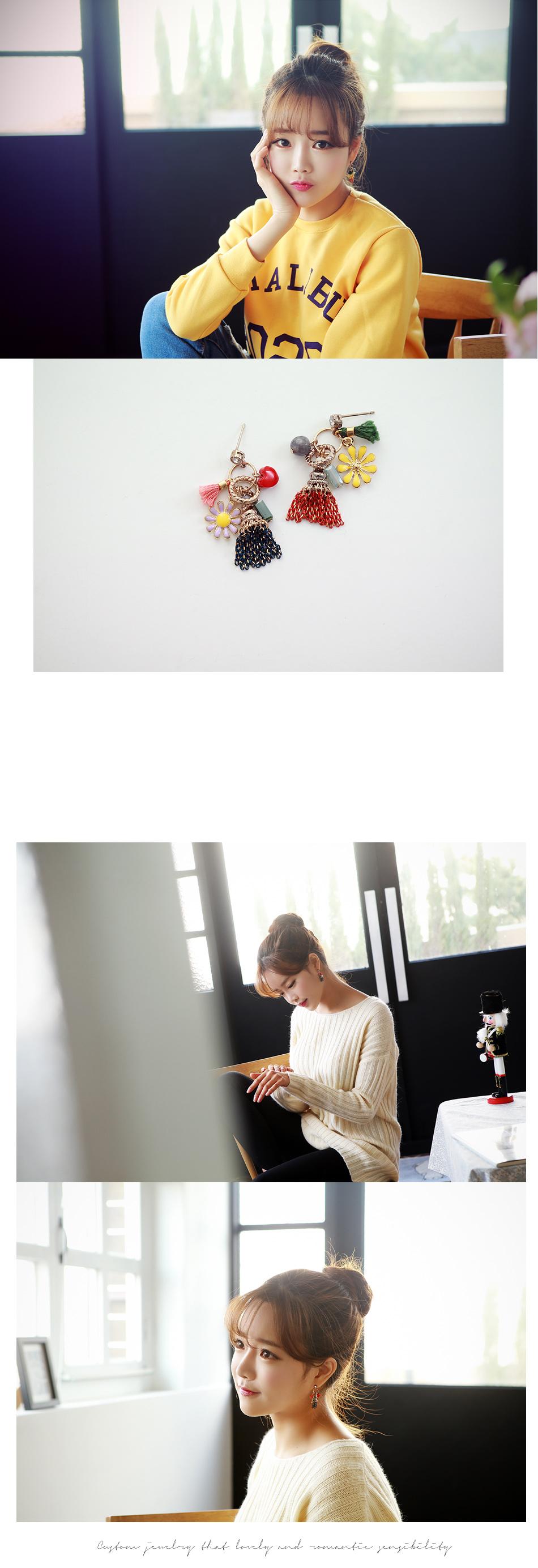 [ 4xtyle ] Allicia可爱耳环、2种颜色