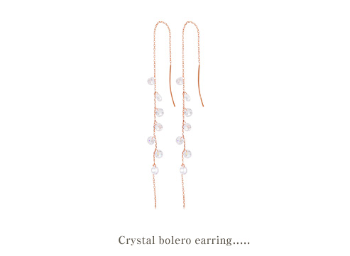 [ 4xtyle ] Crystal Bolero Silver Earring, One Color