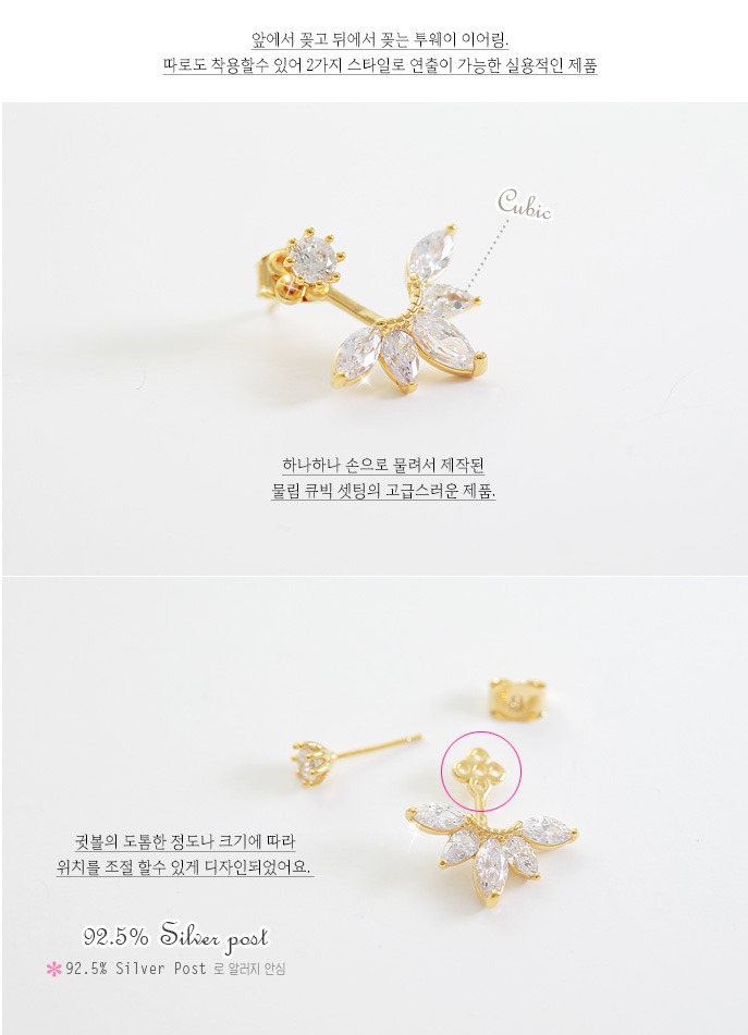 [ 4xtyle ] Fairy Flower Earring, 3 Colors